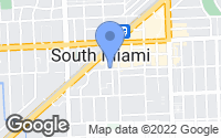 Map of South Miami, FL