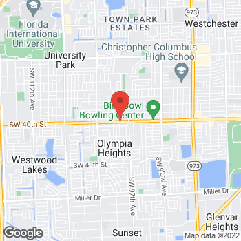 Map of Check `n Go 40th St. at 9801 SW 40th St., Miami, FL 33165