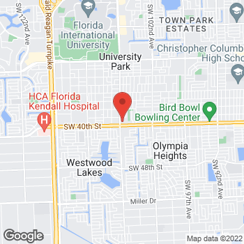 Map of Checkers at 10695 Bird Rd, Miami, FL 33165