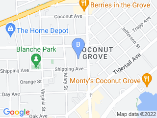Map of Grove Pet Service Dog Boarding options in Miami | Boarding