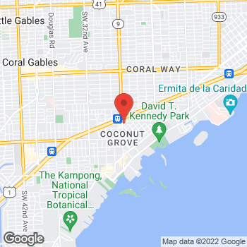 Map of Burger King at 2801 S W 27th Ave, Miami, FL 33133