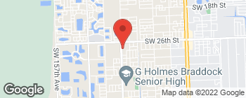 Map of 2635 SW 147th Ave in Miami