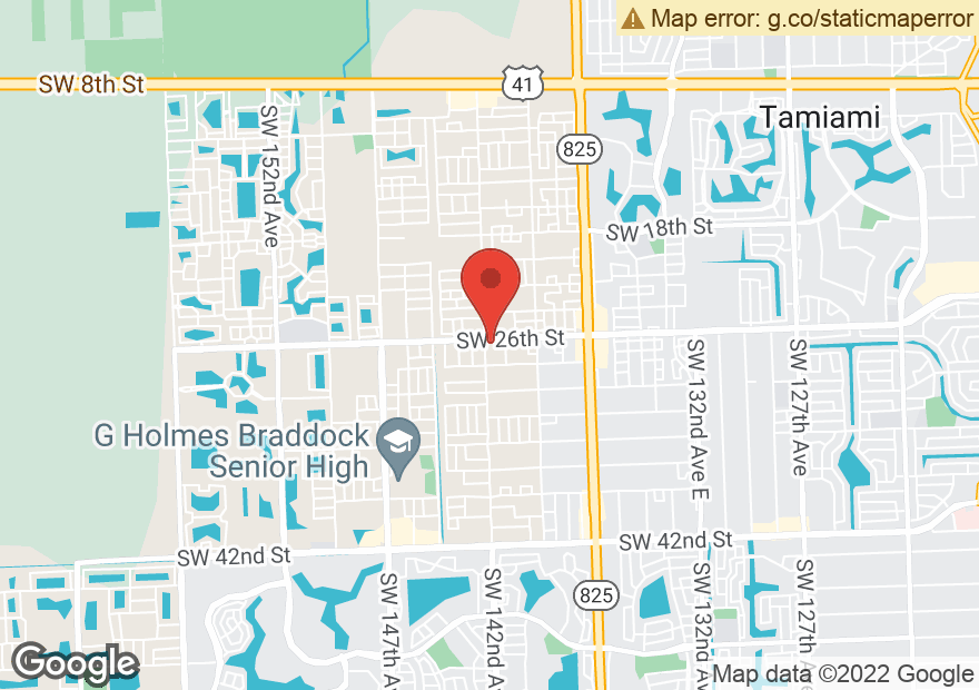 Google Map of 14190 SW 26TH ST