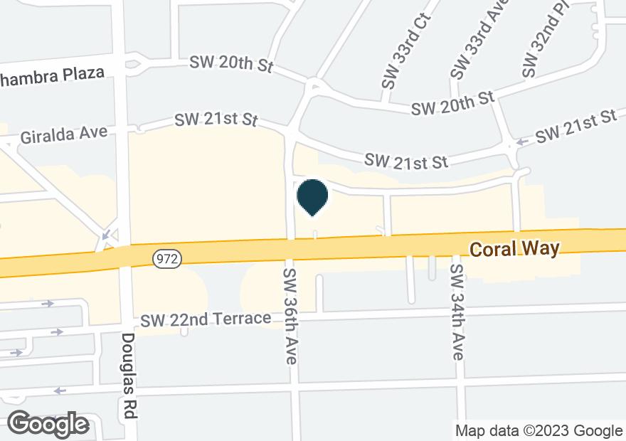 Google Map of3595 CORAL WAY