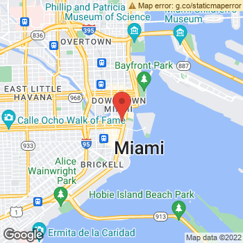 Map of Yext at 600 Brickell Ave, Miami, FL 33131