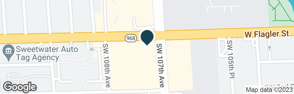 Google Map of10700 W FLAGLER ST
