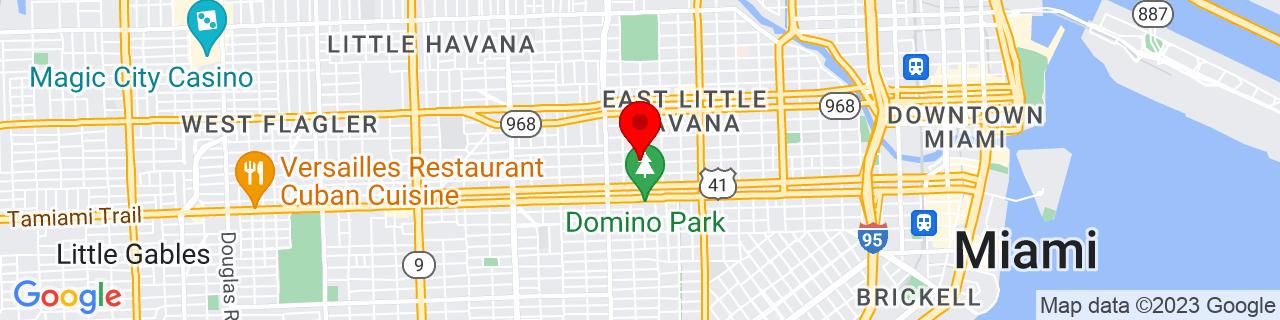Google Map of 25.7686111, -80.2197222