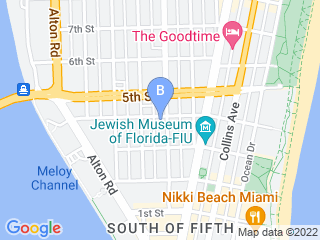 Map of The Litter Sitter Dog Boarding options in Miami Beach | Boarding