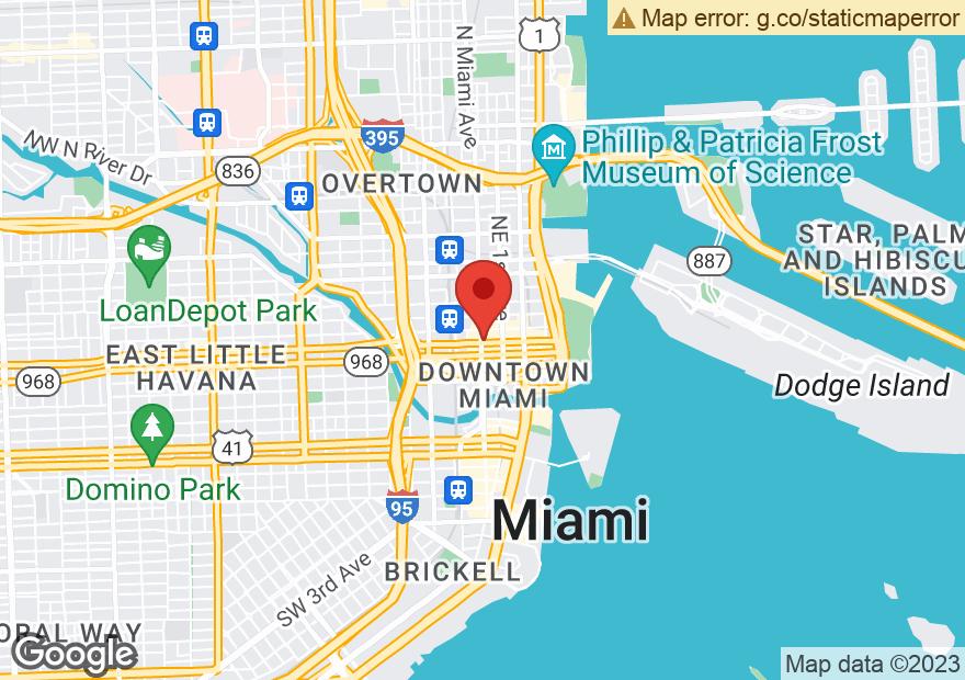 Google Map of 1 E FLAGLER ST