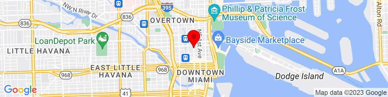 Google Map of 25.7782974, -80.1937379