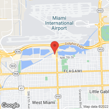 Map of Hair Cuttery at 5719 Nw 7th Street, Miami, FL 33126