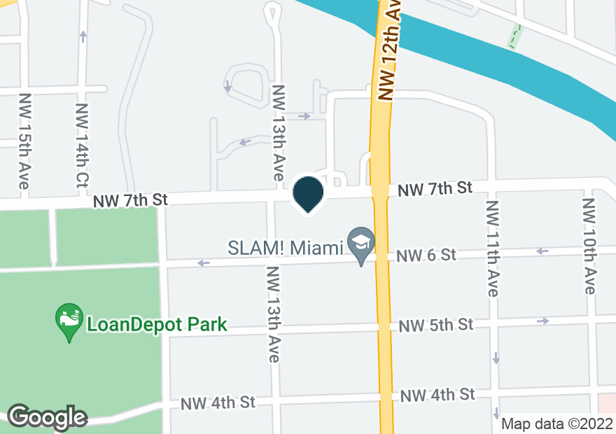 Google Map of1250 NW 7TH ST