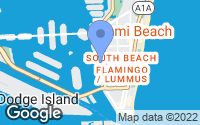 Map of Miami Beach, FL