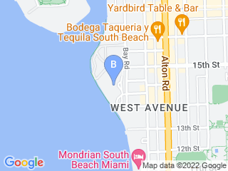 Map of Pucci Pet Care Dog Boarding options in Miami Beach | Boarding