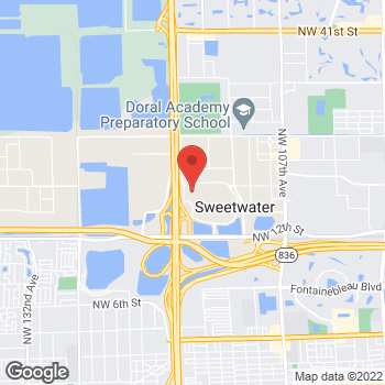 Map of Bass Pro Shops at 11551 Northwest 12th St, Miami, FL 33172