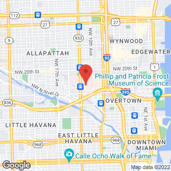 Map of Panera Bread at 1611 NW 12th Avenue, Miami, FL 33136