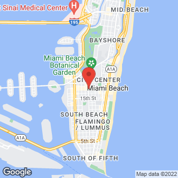 Map of BCBGMAXAZRIA at 744 Lincoln Road, Miami Beach, FL 33139