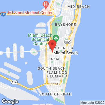 Map of Sunglass Hut - Temporarily Closed at 845 Lincoln Rd, Miami Beach, FL 33139