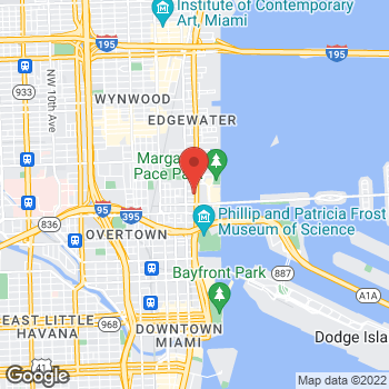 Map of Checkers at 1650 Biscayne Blvd, Miami, FL 33132