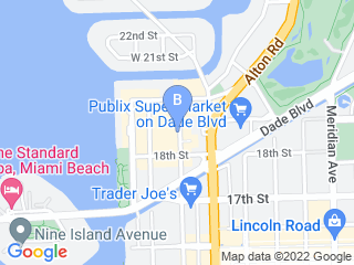 Map of South Beach Animal Hospital Dog Boarding options in Miami Beach | Boarding