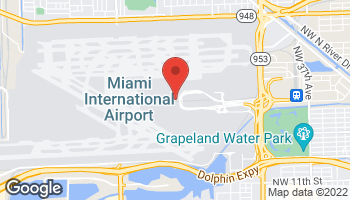 Map of Miami International Airport in Miami