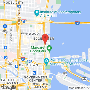 Map of Staples at 2121 Biscayne Blvd, Miami, FL 33137