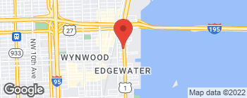 Map of 3050 Biscayne Blvd in Miami