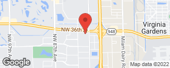 Map of 7902 NW 36th St in Doral