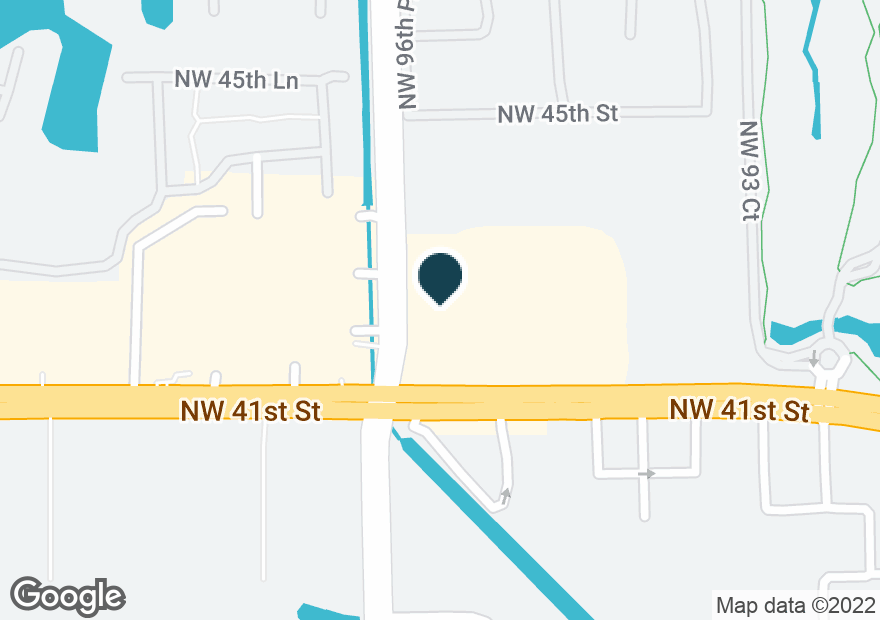 Google Map of9675 NW 41ST ST
