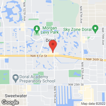 Map of Panera Bread at 9717 NW 41st Street, Doral, Florida 33178