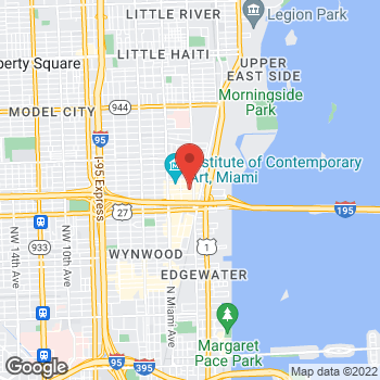 Map of Salvatore Ferragamo at 170 NE 40th St, Space TM 101, Miami, FL 33137