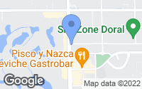 Map of Doral, FL