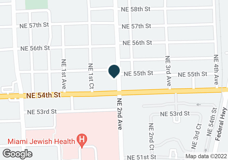 Google Map of161 NE 54TH ST