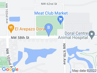 Map of Pet Spa Dog Boarding options in Doral | Boarding