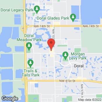Map of Hair Cuttery at 10767 Nw 58th St, Doral, FL 33178
