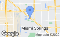Map of Miami Springs, FL