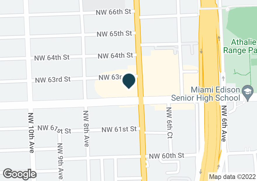 Google Map of6200 NW 7TH AVE