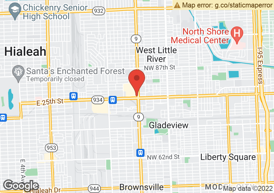 Google Map of 7910 NW 27TH AVE