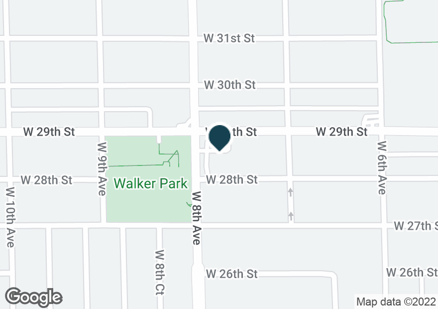 Google Map of770 W 29TH ST