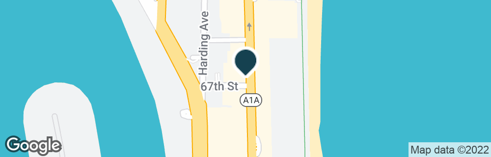 Google Map of6700 COLLINS AVE