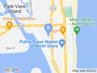 Map of Living the Pet Life Professional Pet Sitting Dog Boarding options in Miami Beach | Boarding