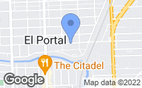 Map of El Portal, FL