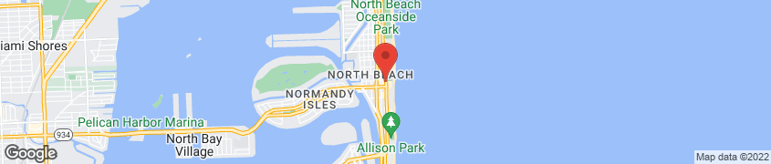 Map of 7140 Collins Avenue in Miami Beach