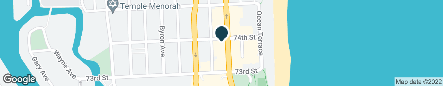 Google Map of7340 COLLINS AVE