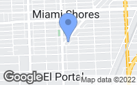 Map of Miami Shores, FL