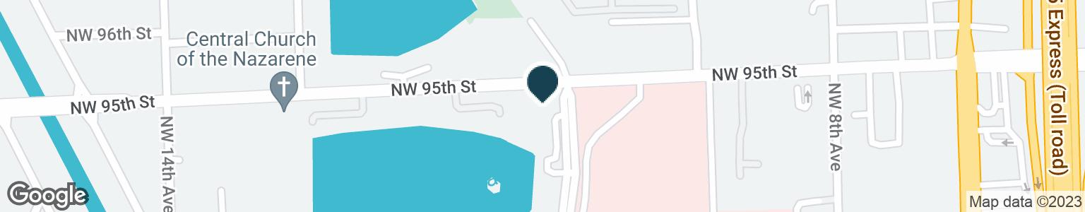 Google Map of9400 NORTHWEST 12TH AVE