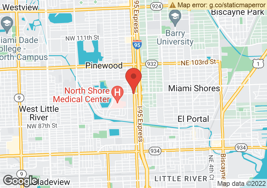 Google Map of 9498 NW 7TH AVE