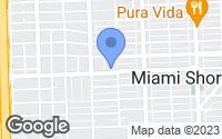 Map of Miami Shores, FL