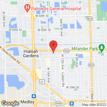 Map of Bed Bath & Beyond at 1460 West 49th Street, Hialeah, FL 33012