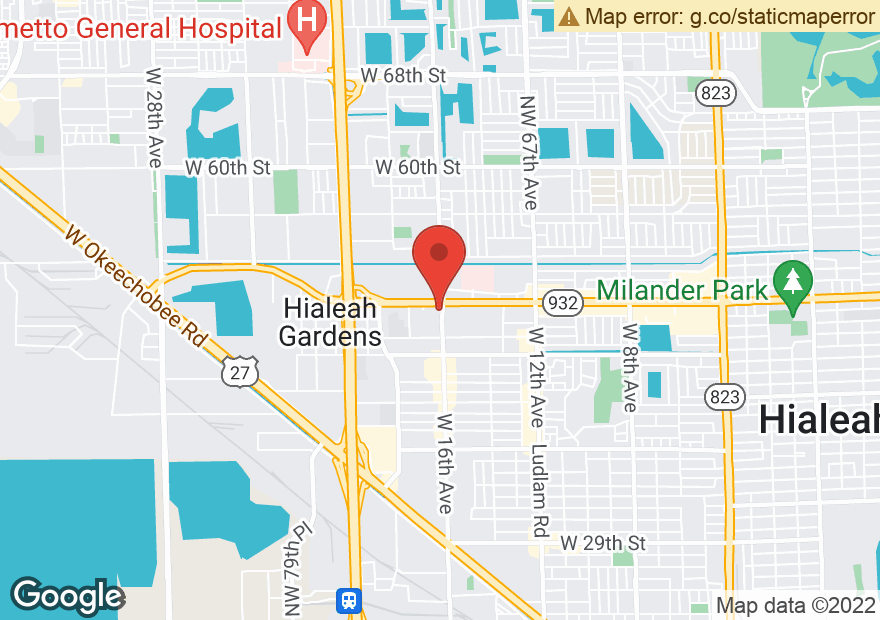 Google Map of 1610 W 49TH ST